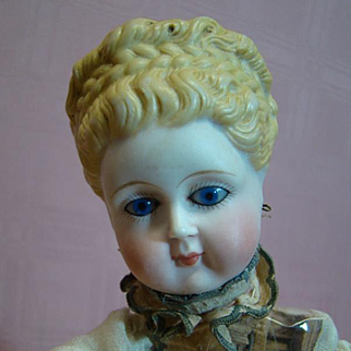 """Antique Automaton Needing Restoration, Beautiful Doll Head, Key Wind Movements and Music Work, Sold """"As Is"""""""