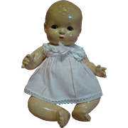 10 In. 1920's Effanbee Patsy Baby, Cute as Pie!  Blue Sleep Eyes, Original Lashes, Chubby Body, Excellent Composition