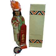 11 In. Skookum (Bully Good) The Great Indian Character Doll, MIB Indian Chief