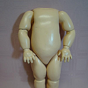 12 Inch Antique German Composition Fully Jointed Chubby Toddler Body
