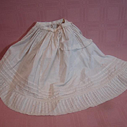 Hard to Find Flowing Back Train Petticoat / Half Slip for a Large French Fashion or Other Antique Doll