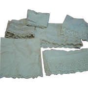 Lot #2 - Yardage of Antique White Cotton Trim for Dressing Antique Dolls, Dresses, Slips and Pantaloons,