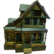 Large Two Story Bliss Dollhouse with Extra Attached Room, Balconies and Front Porch
