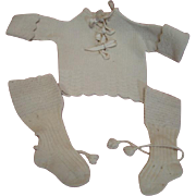 Antique Matching Sweater and Long Stockings for Cold Winter for Baby Doll