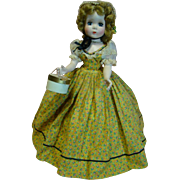 """18 Inch Hard Plastic """"Glamour Girl 1953"""" Madame Alexander, Maggie Face, Beautiful Doll Mint Condition, Hat Box, Tagged"""