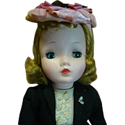 1957 Cissy, an 18 inch Madame Alexander Fashion Doll, Original and Complete, Tagged, Crisp Condition, Excellent Coloring