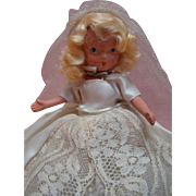 6-1/2 In. Bisque NASB Nancy Ann Storybook Doll Bride, Jointed Legs, Jointed Neck, Original, 1941-42