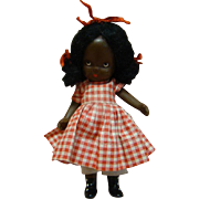 "5 In. NASB Nancy Ann Storybook Doll "" Topsy "" Original, Jointed Legs, Pudgy Tummy, Black Boots, 1941-42, Beautiful!!"