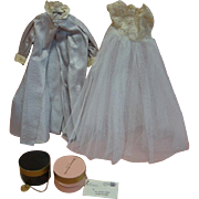 A Madame Alexander Box Containing Miscellaneous Clothing Items and Accessories for Madame Alexanders Hard Plastic Dolls