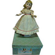 "14 In. Hard Plastic "" Amy "" Madame Alexander Little Women Series, 1950's All Original, Mint in Box and Tagged Dress"