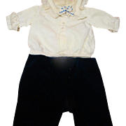 Two Piece Vintage Outfit for 20-22 In. Toddler or Child Boy Doll