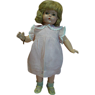 22 In. Effanbee Composition Patsy Lou, Original Thick Curly Wig, Sleep Eyes, Original Real Lashes, Hard to Find Member of Patsy Family