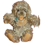1950's 10 Inch Shaggy Frosty Mohair German Steiff Zotty Bear, Button and Ear Tag,