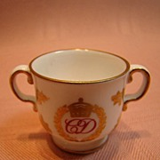 Marked Spode miniature cup commemorative of Prince Charles' Marriage to Lady Diana Spence
