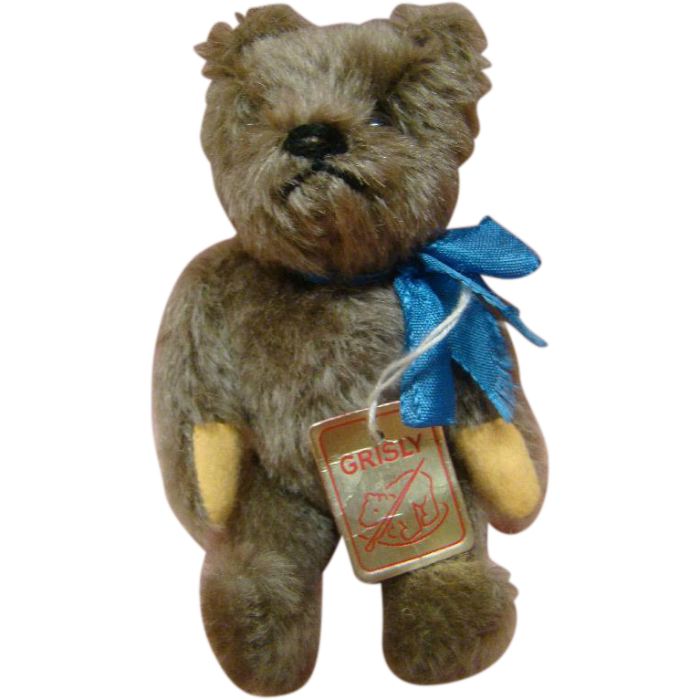 "6 Inch Tagged ""Grisly"" Bear, West Germany, Fully Jtd, Excellent"