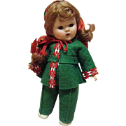 "Vogue Ptd Lash Red-Head Ginny 1953 ""Gadabout Series"" Skier"