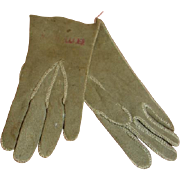 Vintage Doll-Size Suede Leather Gloves Excellent Condition