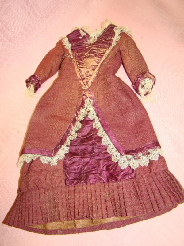 Original Antique French Fashion Ensemble, Matching Hat and Boots