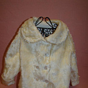 Vintage Faux Fur Double-Breasted Jacket for Large Antique Doll