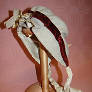 Antique Wool Hat for an Early French Fashion or Child Doll