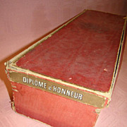 1890's Diplome d'Honneur French Doll Box, 6-3/4 x 21 inches