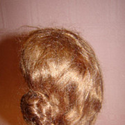 Rams Horn Style Mohair Doll Wig, Lt. Reddish Brown