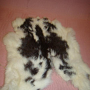 Vintage Rabbit Skin with Fur for Doll Wig, Muff or Stole Making