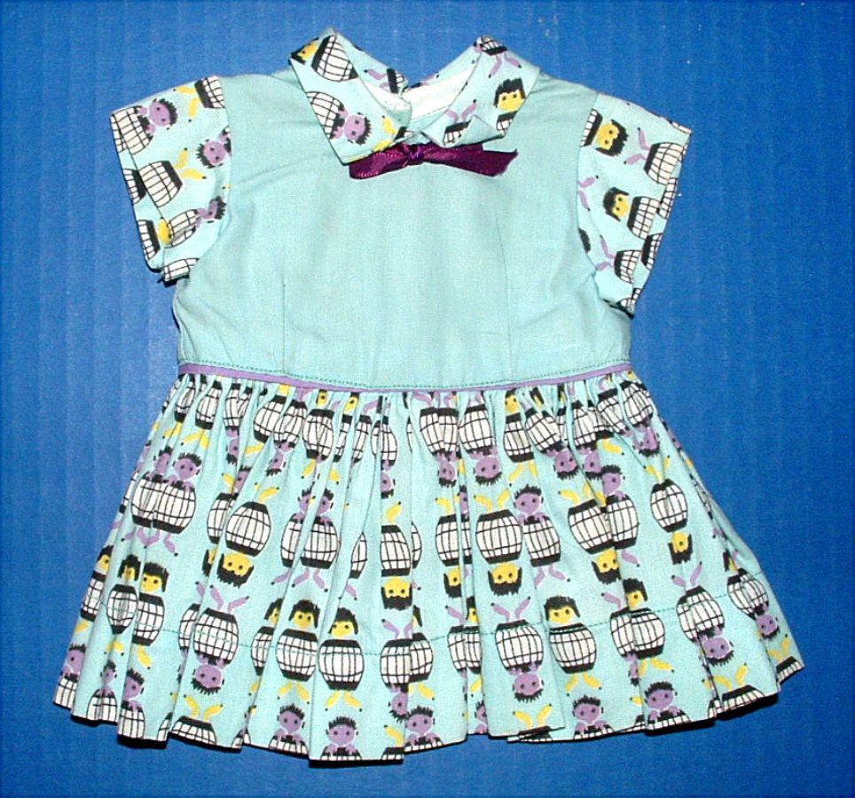 Terri Lee Doll Cotton Print Dress