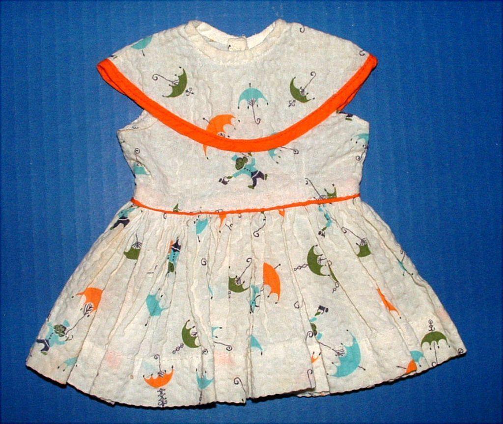 Terri Lee Doll Monkey and Umbrella Print Dress