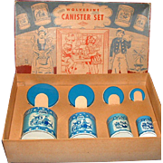 Wolverine Delft Toy Tin Canister Set in Original Box