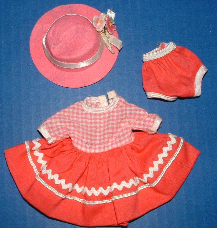 Betsy McCall Doll Recess Dress, Panties, and Hat