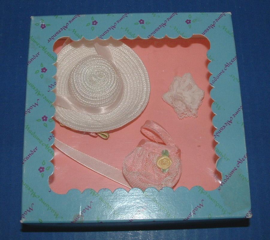 Madame Alexander Doll Club Hat, Purse, Gloves for Cissette or Wendy