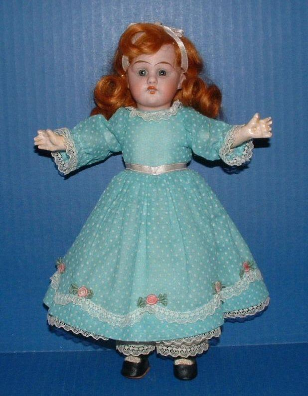 "Gebruder Knoch 10"" Bisque Doll 193 DEP"