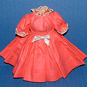 Hot Pink Polished Cotton Dress for Cissette