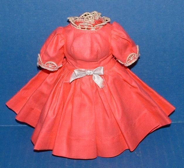 Hot Pink Polished Cotton Dress for Cissette