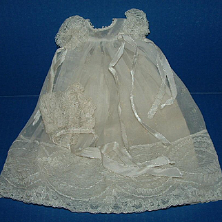 Vogue Ginnette Doll Christening Gown, Slip, and Bonnet