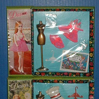 Two Mint in Package Dawn Doll Outfits Pillow Party and What a Racket