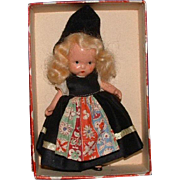 Early Swedish Nancy Ann Storybook Bisque Doll in Original Box