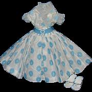 Miss Nancy Ann Doll Dress, Slip and Heels