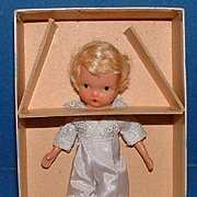 Nancy Ann Storybook Doll Bisque Jointed Ring Bearer in Original Box