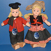 Georgene Dutch Girl and Boy with Original Tags