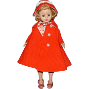 Madame Alexander Cissette Doll in Original Red Polka Dotted Outfit