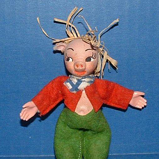 Holiday House Wee Whimsie Jump Jump Three Little Pigs Doll