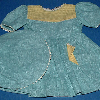 Polished Cotton Doll Dress and Beret