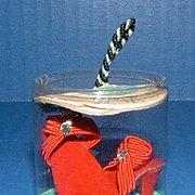 Vogue Jill Doll Red Rhinestone Shoes in Original Package