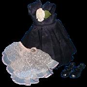 Vogue Jill Doll Black Dress, Pink Slip, and Black Shoes - Red Tag Sale Item