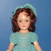 Mary Hoyer Composition Doll in Crocheted Skating Outfit