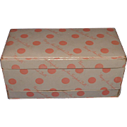Muffie Doll Pink Polka Dotted Wardrobe Chest Box