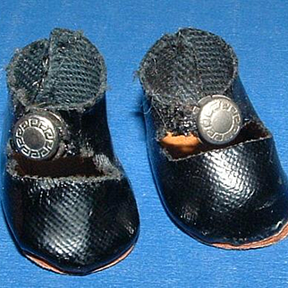 Vogue Ginny Doll Black Centersnap Shoes