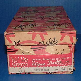 Vogue Ginny Doll Original No. 22 Box for Donna